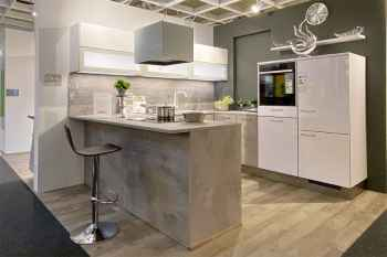 Interliving Küche Serie 3280 Beton Nachbildung Koje 08