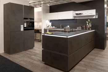 Nolte Küche Portland Zement Anthrazit matt Koje 80