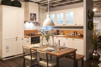 Nolte Küche Windsor Lack Lack Magnolia Arbeitsplatte Eiche Chalet Nachbildung Koje 77
