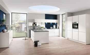 Nobilia Laser Weiß moderne Küchenplanung in der grifflosen Variante LINE N