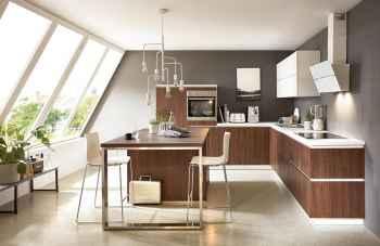 Nobilia Riva Nussbaum Nachbildung eine moderne Küchenplanung für kleine Räume