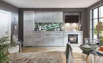 Nobilia Riva Beton grau Nachbildung Küchenzeile