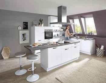 Nobilia Speed Alpinweiß Küchenplanung mit Dachschräge