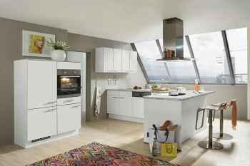Nobilia Speed Seidengrau L-Küche mit Midi-Schrankelement