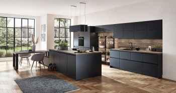 Nobilia Touch Schwarz supermatt moderne Küche Kochinsel Essplatz