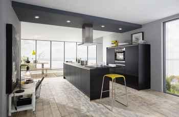 Nobilia Touch Schwarz supermatt Küche mit klarer Architektur