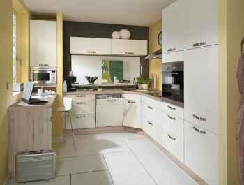Nobilia Touch Magnolia supermatt klassische Einbauküche für kleine Räume