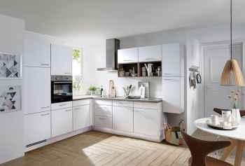 Nobilia Touch Alpinweiß supermatt klassische Winkelküche