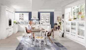 Nobilia Sylt Lack Weiß matt Landhausküche mit nordischem Flair