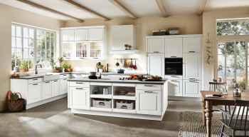 Nobilia Sylt Lack Weiß matt Landhausküche