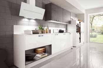 Nobilia Focus Alpinweiß Ultra-Hochglanz Küchenzeile Midi-Schrankelement