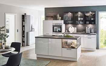moderne Küche Nobilia Flash Küchendesign in Hochglanz