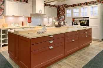 Nolte Küche Windsor Lack Lack Weiß softmatt kombiniert mit Lack Hagebutte softmatt Koje 26
